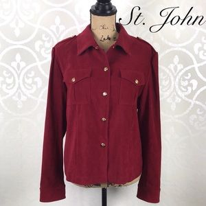 ST. JOHN SPORT BY MARIE GREY STUNNING RED JACKET